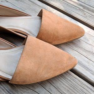 5a6493bd588 Calvin Klein Shoes - Calvin Klein 7 Harmonia tan kidsuede flats pointed